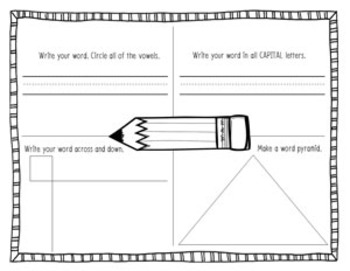 2nd Grade Dolch Sight Word Write and Wipe File Folder Activities