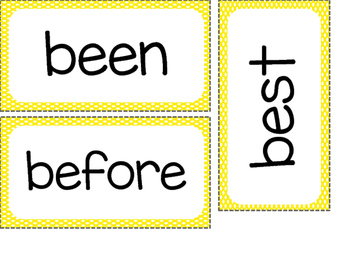 2nd Grade Dolch Sight Words ~ Yellow Polka Dot