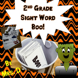 2nd Grade Dolch Sight Words Boo Game - Halloween