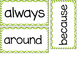 2nd Grade Dolch Sight Words ~ Green Chevron