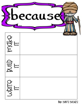 2nd Grade Dolch Sight Words: Make it, build it, write it (People of the Bible)
