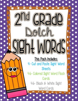 2nd Grade Dolch Sight Words Pack