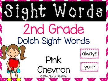 2nd Grade Dolch Sight Words ~ Pink Chevron