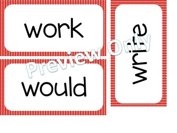 2nd Grade Dolch Sight Words ~ Red Polka Dot ~ Word Wall Cards