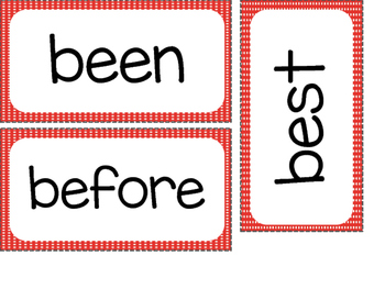 2nd Grade Dolch Sight Words ~Red Polka Dots