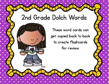 2nd Grade Dolch Sights