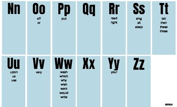2nd Grade Dolch Spelling Chart