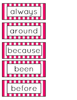 2nd Grade Dolch Word Wall Word Cards (Candy Theme)