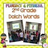 2nd Grade Dolch Words Fluency & Fitness Brain Breaks Bundle