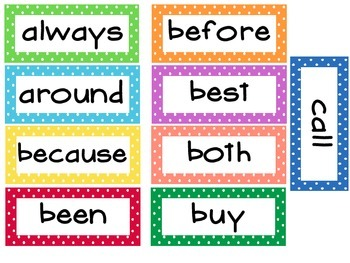 2nd Grade Dolche Word Wall Words- Small