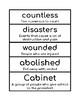 2nd Grade Domain 9 Vocabulary Builder
