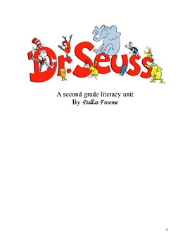 2nd Grade Dr. Seuss Literacy Unit