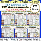 2nd Grade ELA Common Core- (ALL STANDARDS) Assessment Pack- 240 pages