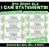 "2nd Grade ELA ""I Can"" Statements (Cactus Theme)"