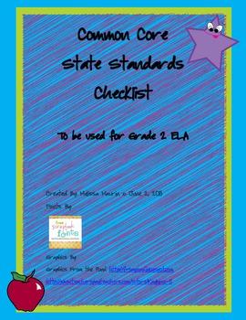 2nd Grade ELA CCSS Checklist