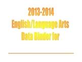 2nd Grade ELA CCSS Data Binder Bar Graphs
