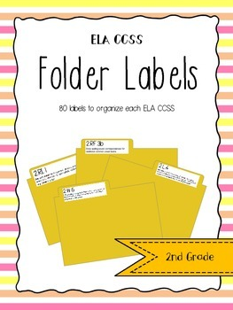 2nd Grade ELA CCSS Folder Labels