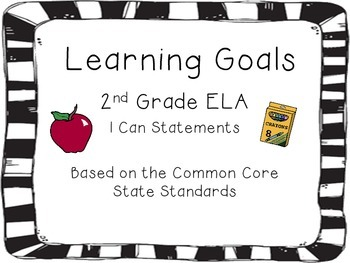 "2nd Grade ELA CCSS ""I can..."" Cards"