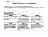 2nd Grade ELA Choice Board Common Core #2