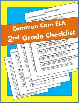 2nd Grade ELA Common Core Checklist