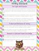 2nd Grade ELA Common Core Checklist - Chevron & Owl Edition