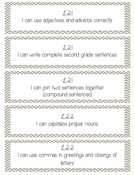2nd Grade ELA Common Core- I Can Statements