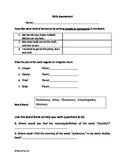 2nd Grade ELA Common Core Skills Assessment