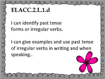 2nd Grade ELA Common Core for Posting - Student Friendly - Black with Flower