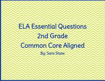 2nd Grade ELA Essential Questions- Chevron