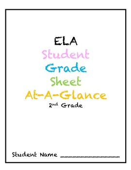 2nd Grade ELA Grade Sheet At-A-Glance