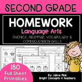 2nd Grade ELA Homework / 2nd Grade Morning Work {DISTANCE LEARNING}