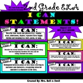 "2nd Grade ELA ""I Can Statements"" (Common Core Aligned)"