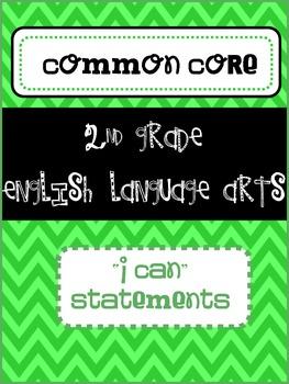 2nd Grade ELA I Can statements