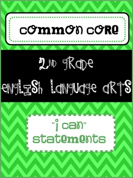 2nd Grade ELA I Can statements