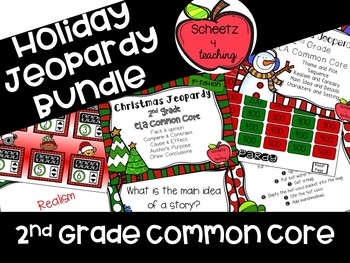 2nd Grade ELA Jeopardy Game - Holiday BUNDLE