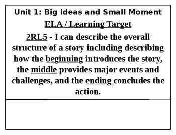 2nd Grade ELA Learning Targets