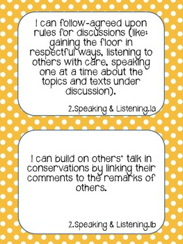 "2nd Grade ELA & Math ""I Can"" Statements"