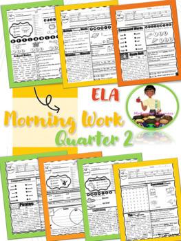 2nd Grade ELA Morning Work 2nd Qtr (October, November, December)