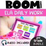 2nd Grade Morning Work ELA Boom Cards GROWING Bundle | Digital Morning Work