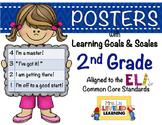 2nd Grade ELA Posters (2RL1-2, RI1-2) with Marzano Scales - FREE!