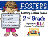 2nd Grade ELA Posters with Marzano Scales - Editable