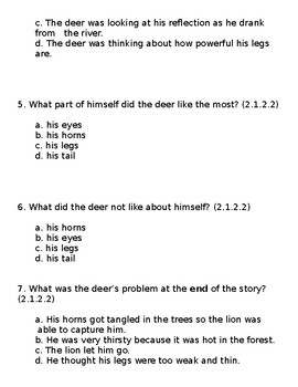 2nd Grade ELA Reading Quizzes
