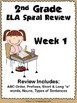 2nd Grade ELA Spiral Review ~ 1 Week FREEBIE