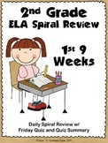 2nd Grade ELA Spiral Review ~ 1st Quarter