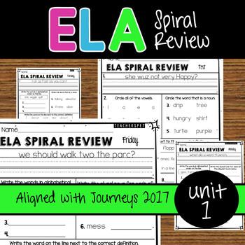 ELA Daily Practice - Unit 1 Weeks 1-5 - Journeys 2017 Edition