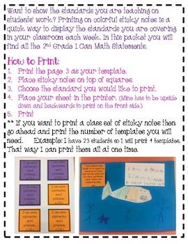 2nd Grade ELA Sticky Standards