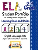 2nd Grade ELA Student Portfolio Pages with Marzano Scales - FREE!