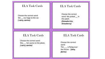 2nd Grade ELA Task Cards