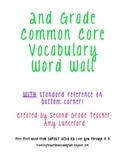 2nd Grade ELA and Math Vocabulary Word Wall