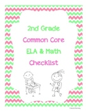 2nd Grade ELA/Math Common Core Standards Checklist